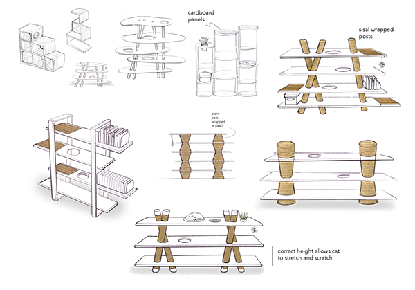furniture design sketches png. Initial Sketches Focus On Fusing Contemporary Furniture Design With Features Pet Such As Climbing Platforms And Sisal Scratching Posts To Png W