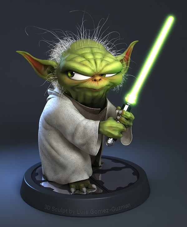 Yoda Character Design : Yoda colored and textured on behance