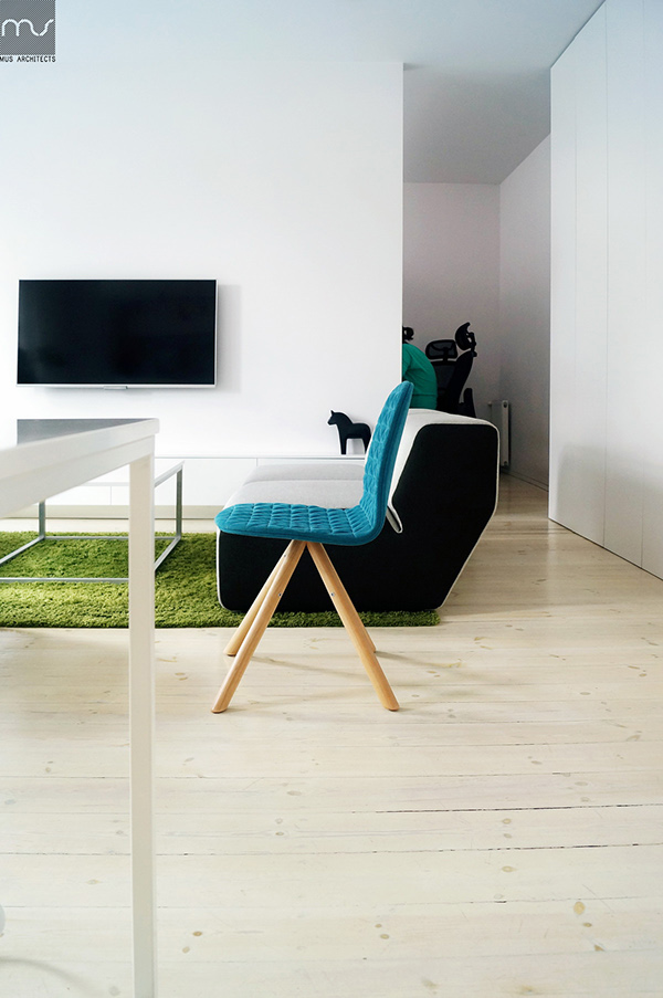 Interior design MUS architects Nikiszowiec postindustrial LOFT silesia Minimalism modern White pure flat brick historic
