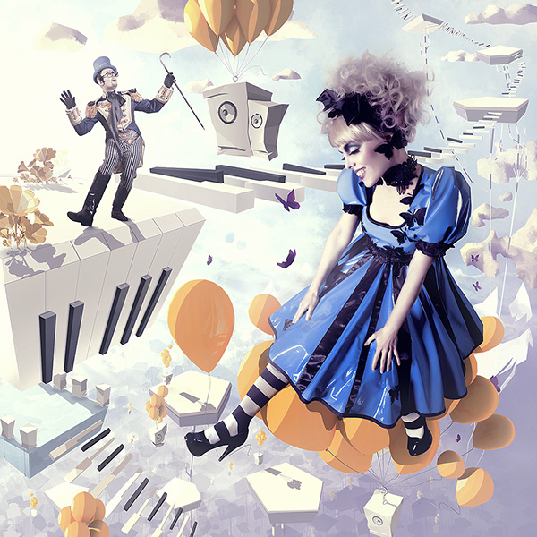 Art For Life balloon keys dream alice Flying clouds way AIDS phonograf Positive hope Magic