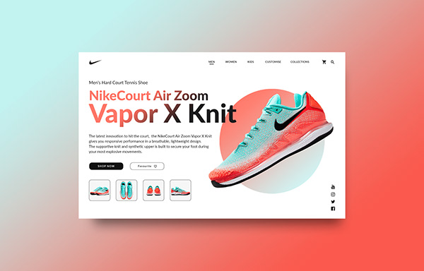 Nike shoe page concept