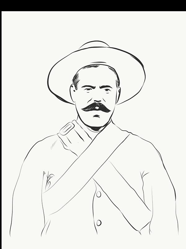 Quot Pancho Villa Quot By Antonio Romero On Pantone Canvas Gallery