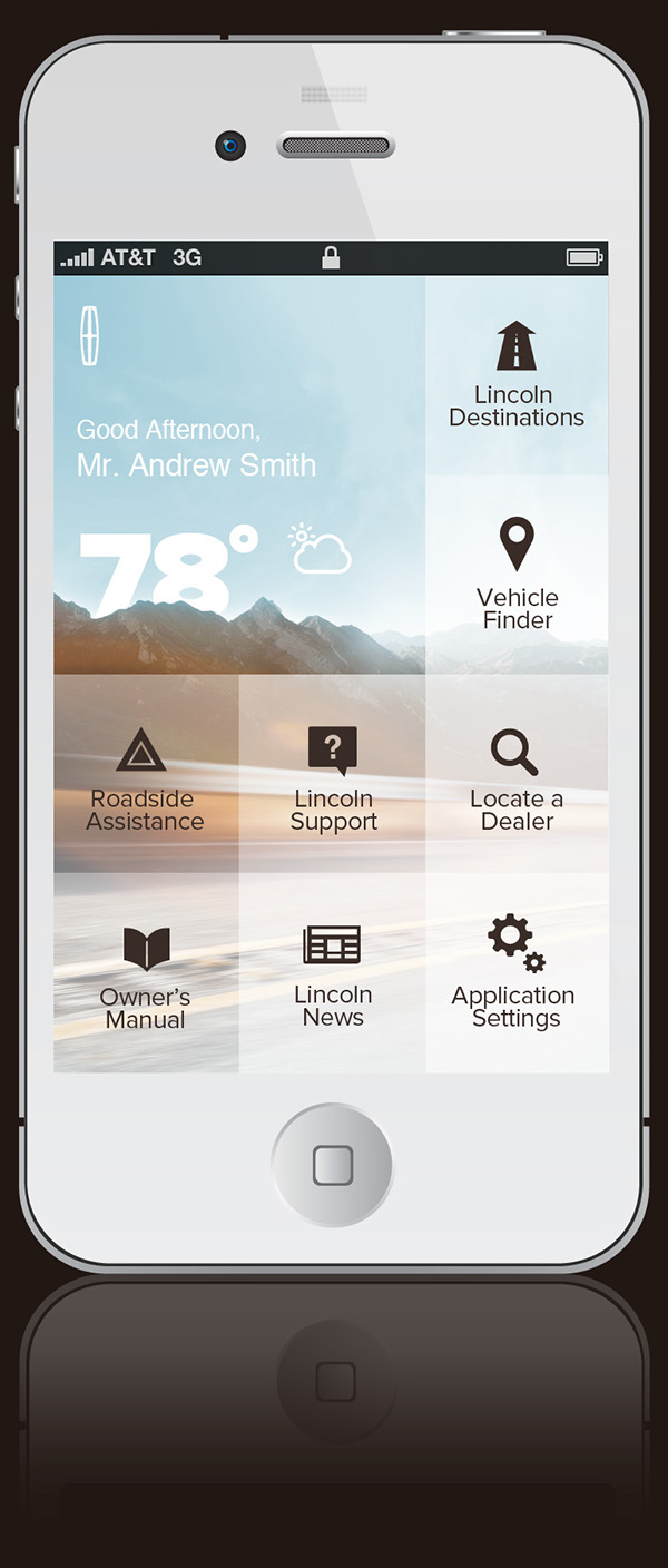 Lincoln app on behance for Tile layout app