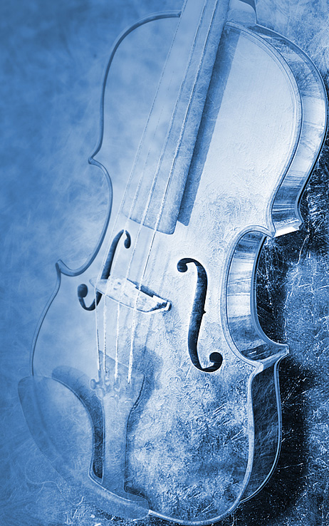 Violin Zagreb Croatia Soloists Classic ice snow texture strings FREEZE frozen icy cold blue iced poster winter