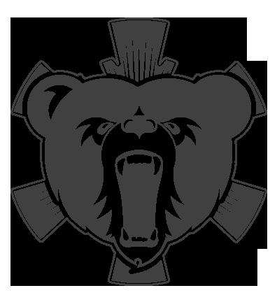 Ski kindergarden logo Logo Design bear cartoon sygnet snow Ski brand