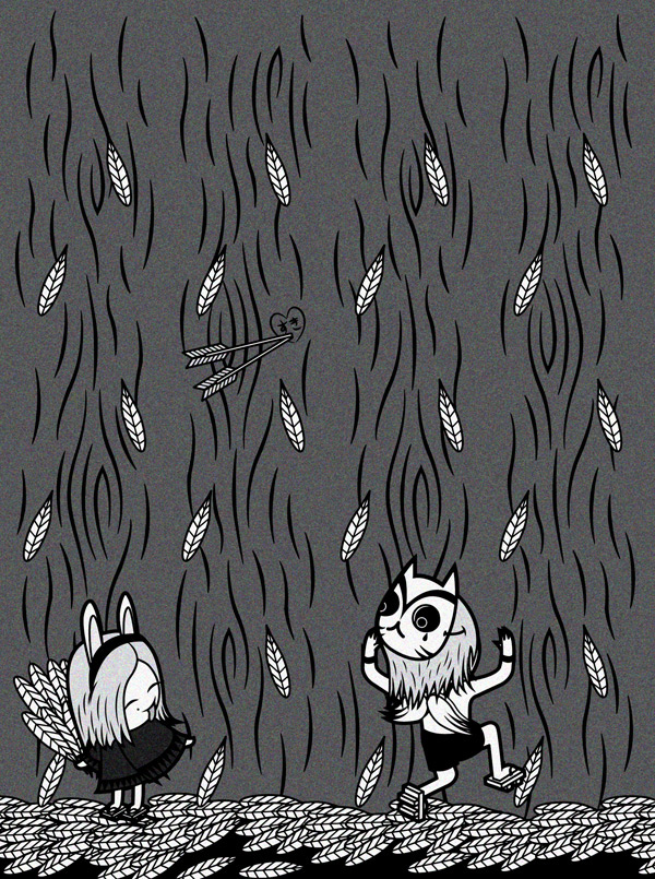 rabbit bunny usagi boy Tree  forest surprise