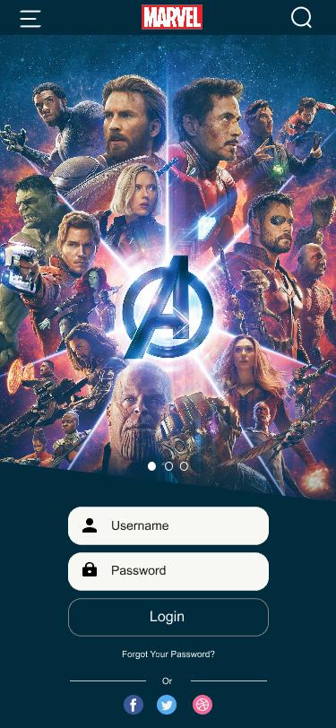 marvel ui marvel app Avengers Ui iron man ui marvel ui ux MARVEL DESIGN Avengers End Game Rish Designs disney UI