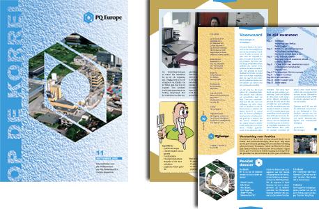 het anker Akzo Maastricht Lawter Specialty Chemicals PQ Corporation Op de korrel personeelsblad Magazine design
