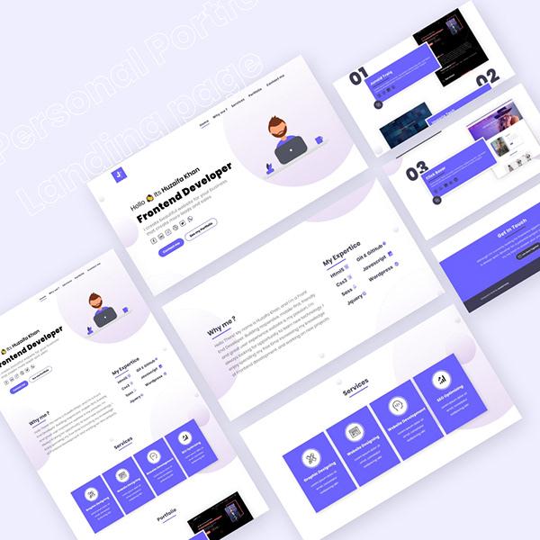 Personal Portfolio Landing Page Concept 3