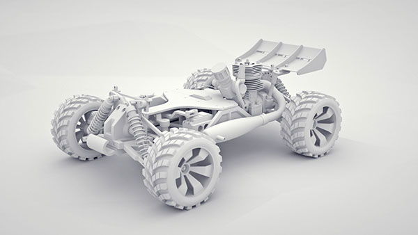 RC-Car Animation   Functionality 2 - stroke engine on AIGA Member