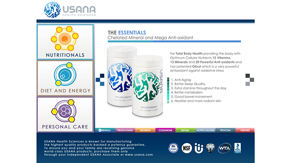 Usana Product App For Ipad On Behance