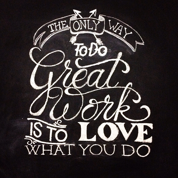 Chalkboard wall mural on behance for Thank you mural