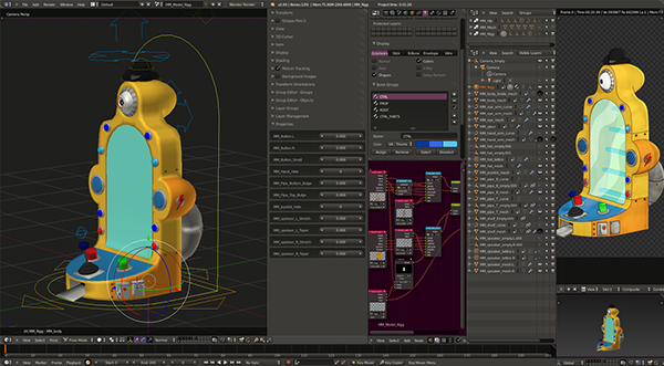 Mami Fatale 2d/3d animation, rigging and assets on Wacom Gallery