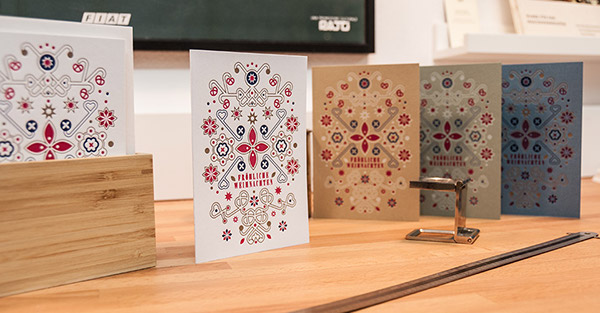 Letterpress Weihnachtskarten.Letterpress Weihnachtskarten Christmas Cards On Behance