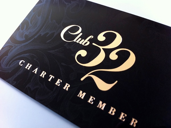 Club 32 Card Design on Behance – Club Card Design
