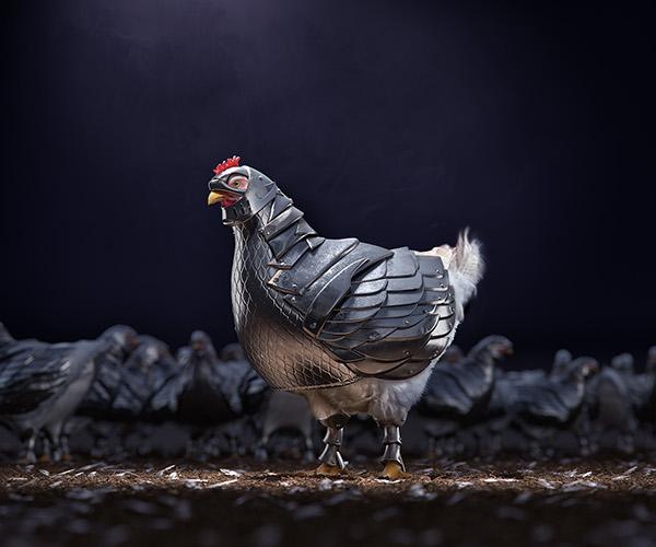 Armour Chicken - CGI & Retouching by Indigo Studios