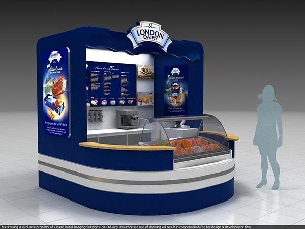 London Dairy Ice Cream Kiosk On Behance