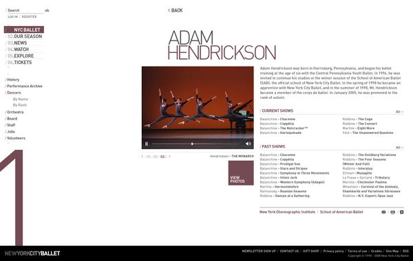 New York City Ballet Concept Design On Behance