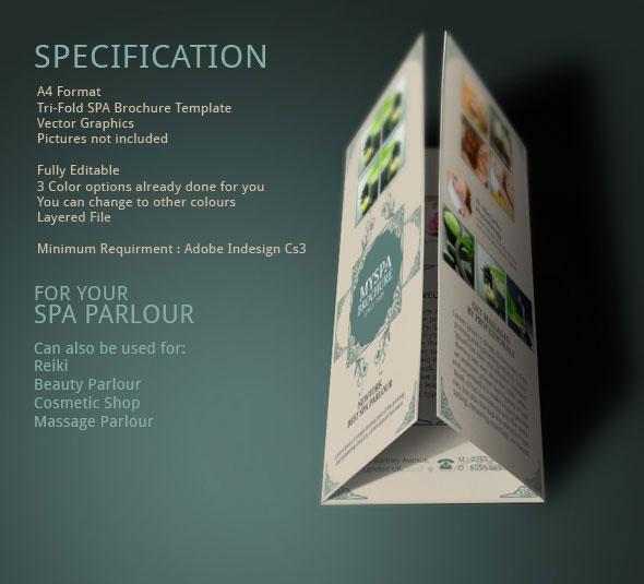 Spa Brochure Design   Modern Design on Behance