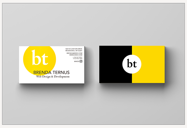 BYUI ART 230 business card mockup project