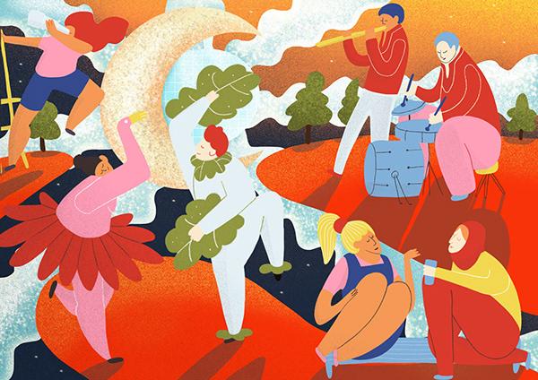 Dancing Folk - Illustration
