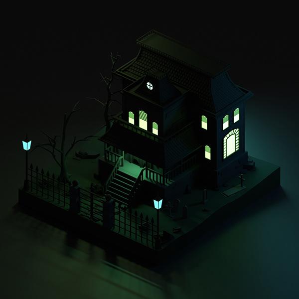Haunted House Modeling in Blender 2.92