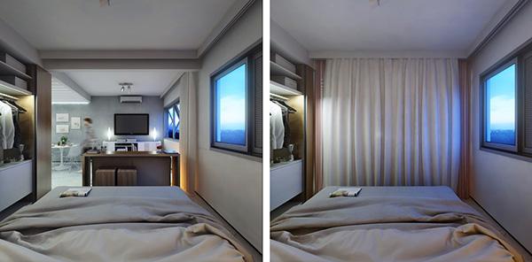 Interior 29sqm são paulo Brazil apartment renovation small living