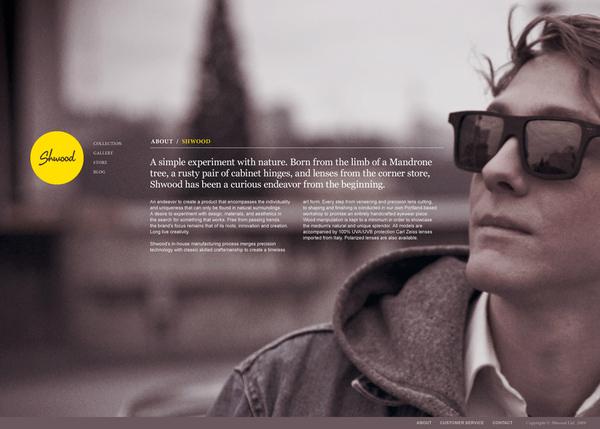 shwood eyewear wanken shelby White shelby white Website Webdesign Retail Sunglasses wood product website Experience web layout