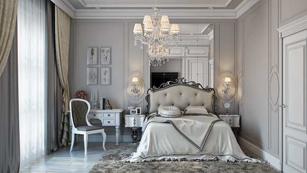 Bedroom Neoclassical Soft Grey On Behance
