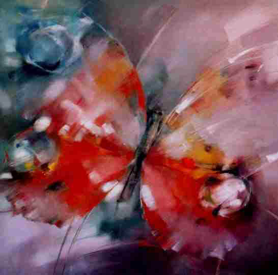 oil paintings  butterfly