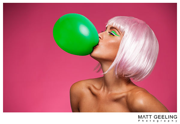 Matt Geeling Matt Geeling Photography Charlotte Holmes Jacqueline Stone Commercial Photography Justin Eric Woods MUA Sweets lollipop balloons bubblegum beauty beauty photography