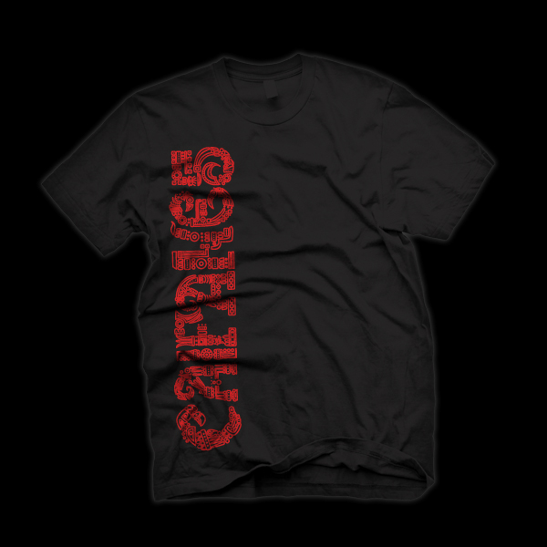 Caifanes  t-shirt TIPHOGRAPHY   tipografia red  Black