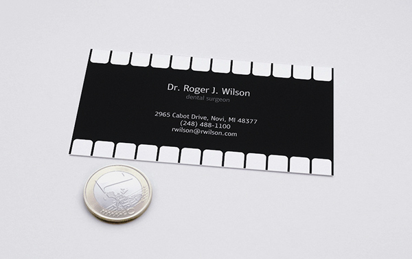 Business card for dentist on behance creative business card with scratch layer dentist specializing in esthetic restoration has bussines card with an image of interrupted row of teeth reheart Choice Image