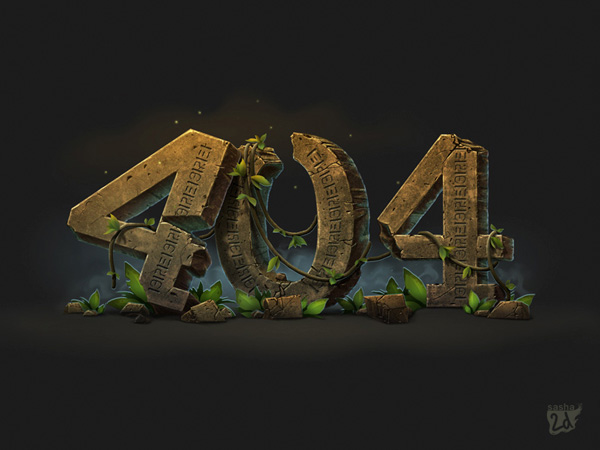 """404"" illustration 2D by Alexander Dyagilev"