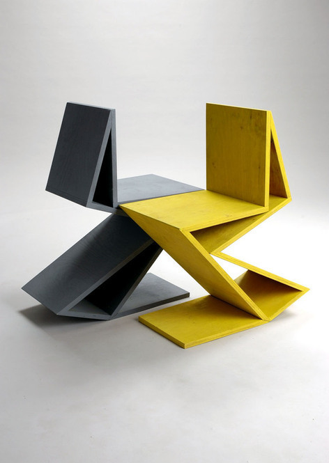remix gerrit rietveld chair zig zag on behance. Black Bedroom Furniture Sets. Home Design Ideas