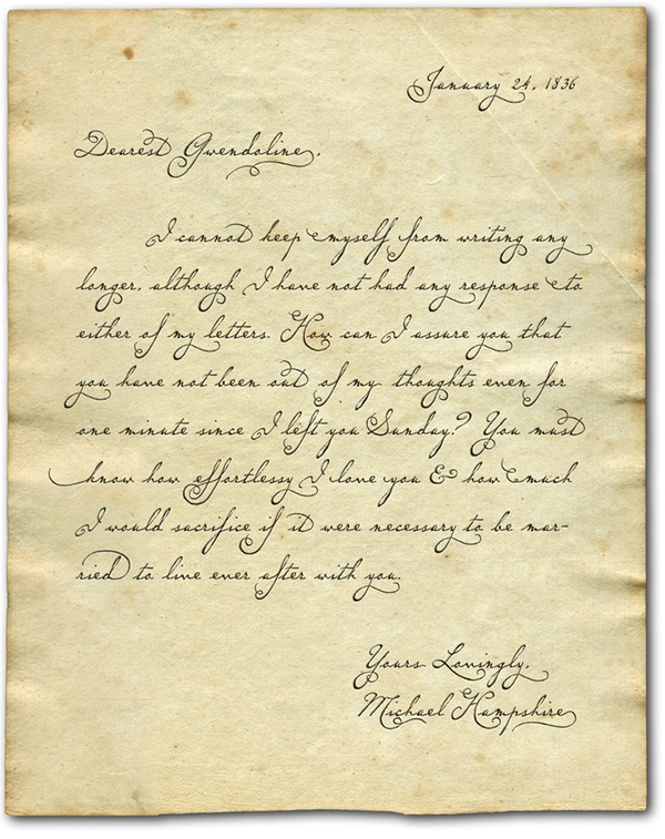Script wedding invitations flowing