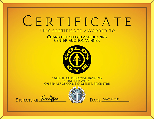 Golds Gym Gift Certificate On Behance