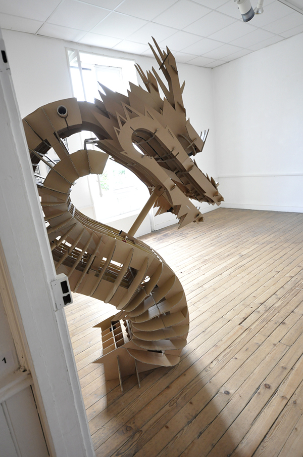 cardboard dragon template - cardboard dragon on behance