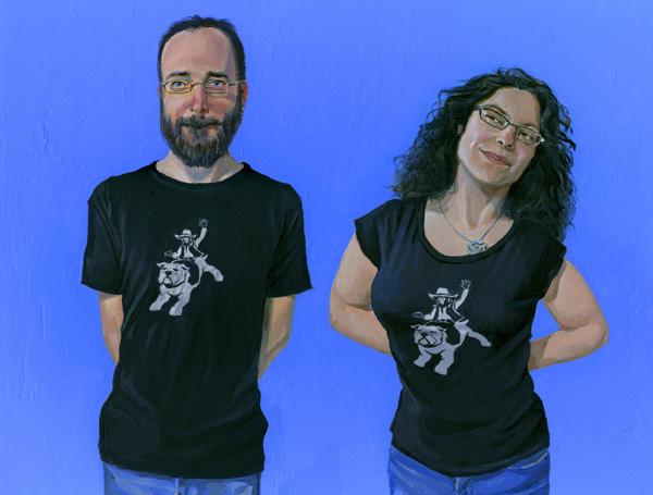 Robot Penguin Hoodie black cats Monkey and Bulldog T-shirt models Donkeyshines product paintings Product Photos