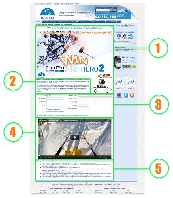 Ski Competiton - Email Database Growth on Behance