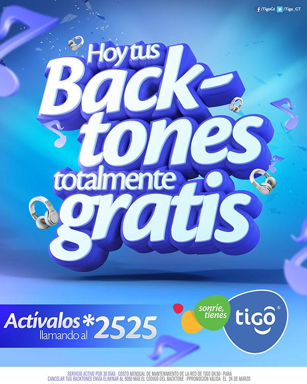 backtones de tigo gratis
