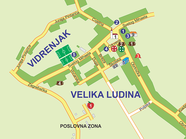 Tourist map of Velika Ludina Croatia on Behance – Croatia Tourist Map