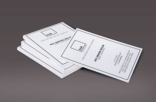 Raw studio kl on student show front design of business card reheart Choice Image