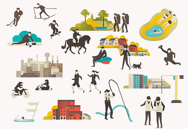 Hyvinkää identity illustration finland city infographic