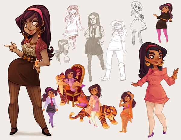 Professional Character Design Portfolio : January character design portfolio on behance