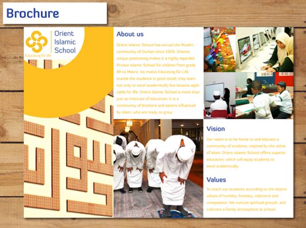 islamic brochure design - orient islamic school brand challenge 2012 on behance