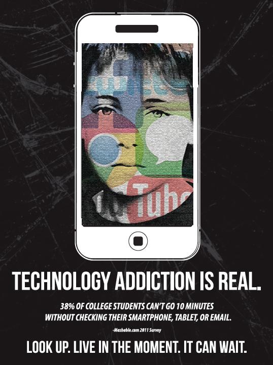 technology addiction poster on behance