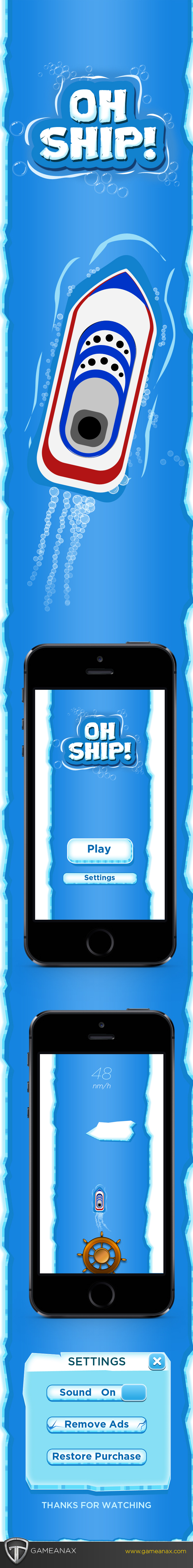 mobile gaming Gaming Games UI ux iphone iPad ships ship ice