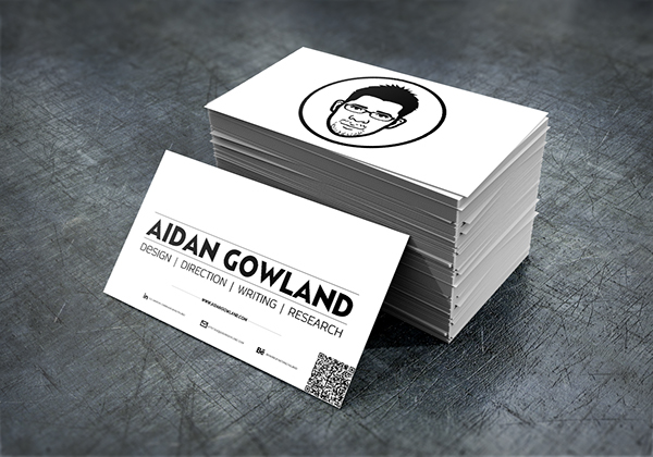 Personal branding business cards on student show the illustrated face also helps people remember who i am when they look at the card once its been floating around on their desk for a week colourmoves