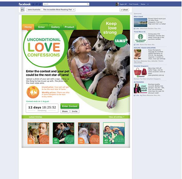 Pet facebook app social media